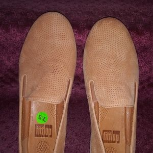 Nowt by Fitflop all leather cognac color espadrill
